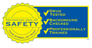 The Technician Seal of Safety is a promise that your plumbers, HVAC, and service techs are trustworthy and reliable